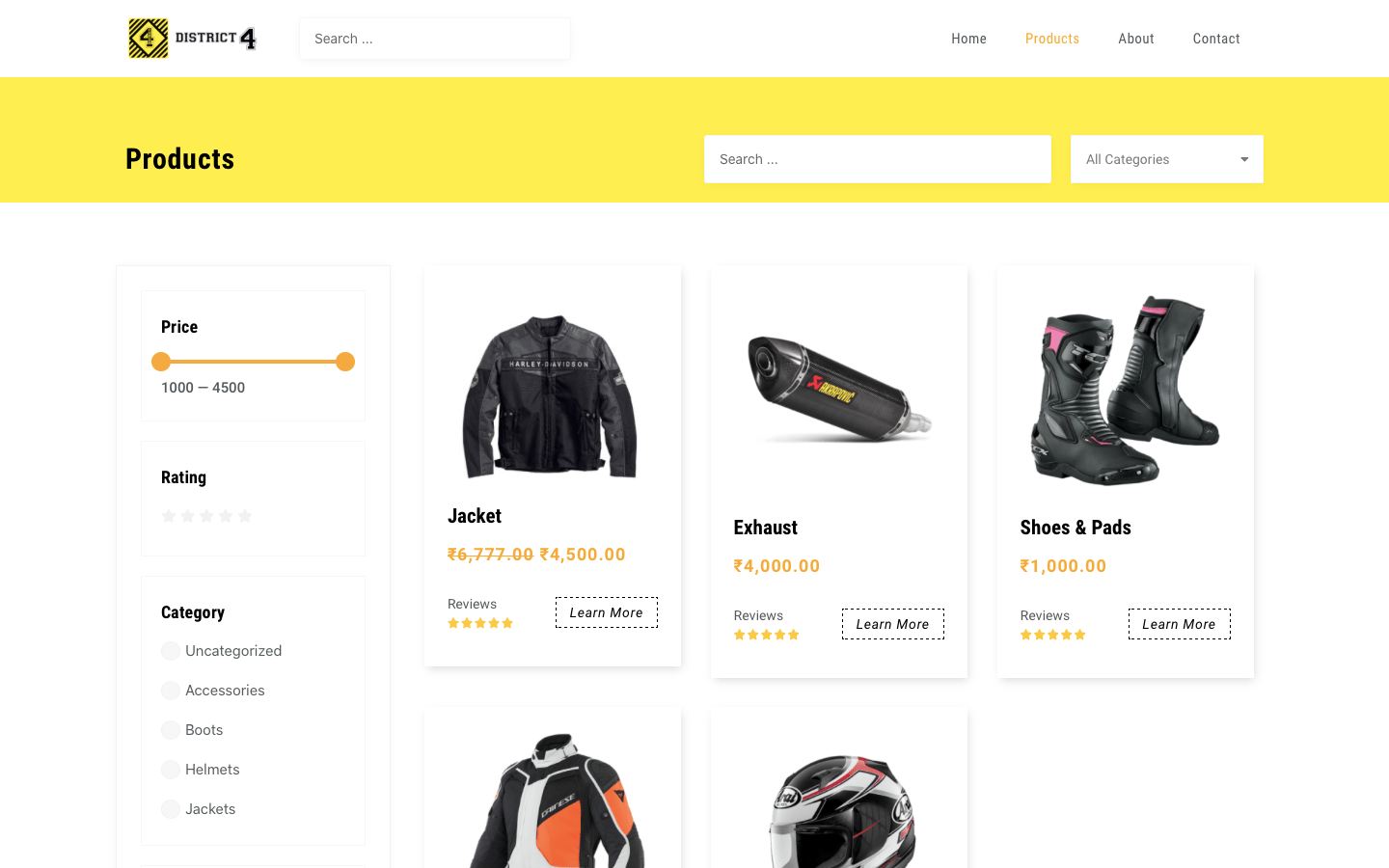 District 4 product page